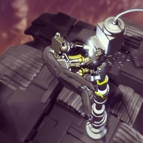Robot fixing a Radio Mast